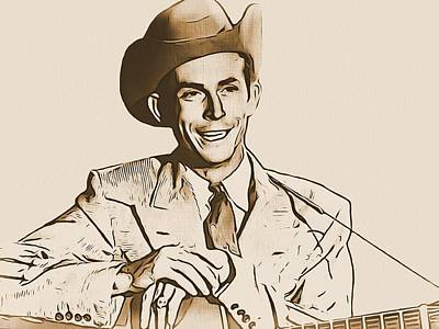 Digital Art - Hank Williams by Dan Sproul