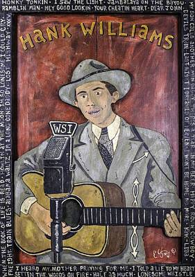Hank Williams Art Print by Eric Cunningham