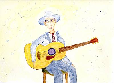 Painting - Hank Williams by Jim Taylor