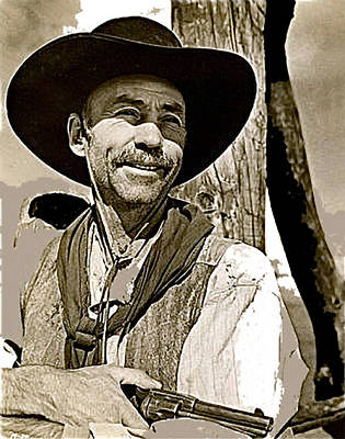 Hank Worden Publicity Photo Red River 1948-2013 Art Print by David Lee Guss