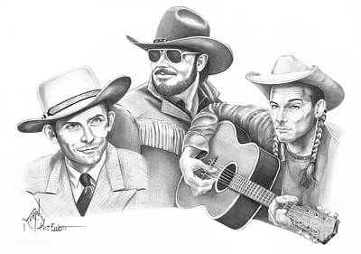 Hank Williams Drawing - Hanks For The Memories by Murphy Elliott