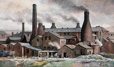 Hanley Pot Works Art Print by Anthony Forster
