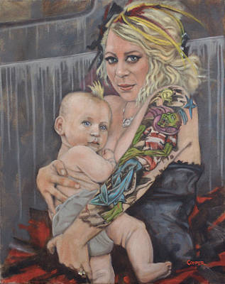 Painting - Hannah And Asher by Todd Cooper