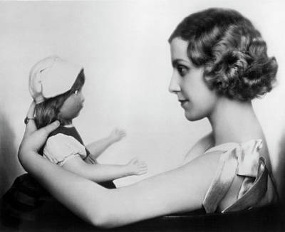 Photograph - Hanni Hoessrich With Doll by Underwood Archives