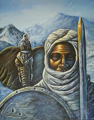 Hannibal Crossing The Alps Art Print by Barbara Gray