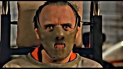 Anthony Hopkins Painting - Hannibal Lecter by Florian Rodarte