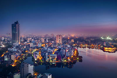 Photograph - Hanoi Cityscape by Lordrunar