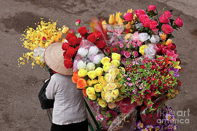 Photograph - Hanoi Flowers 02 by Rick Piper Photography