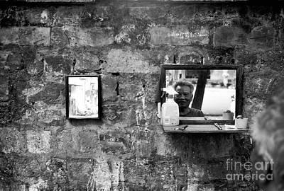 Photograph - Hanoi Street Barber by Dean Harte