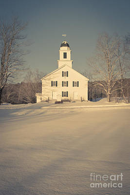 New Hampshire Photograph - Hanover Center Church Etna New Hampshire by Edward Fielding