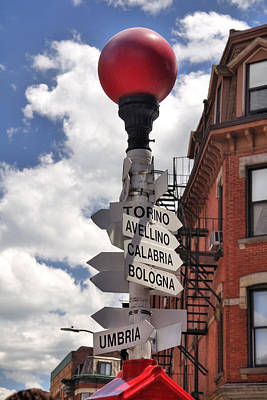 Boston Photograph - Hanover Street Boston North End by Joann Vitali