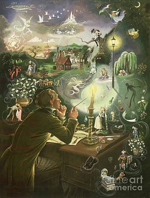 Fantasy Painting - Hans Christian Andersen by Anne Grahame Johnstone