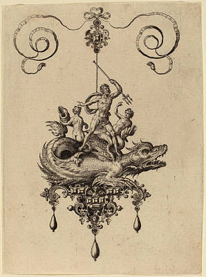 Hans Collaert Flemish, 1566 - 1628, Jewelry Design Art Print