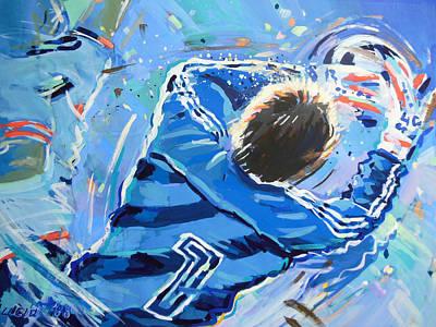 Goalkeeper Painting - Hans Van Breukelen Ek 88 by Lucia Hoogervorst