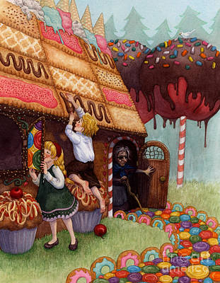 Candy Painting - Hansel And Gretel by Isabella Kung