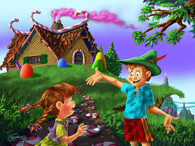 Brothers And Sisters Digital Art - Hansel And Gretel by Kem Welch