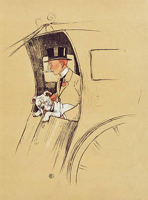Hansom Cab  Art Print by Cecil Charles Windsor Aldin