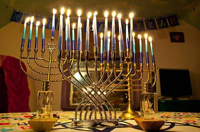 Photograph - Hanukkah 2012 by Tikvah's Hope