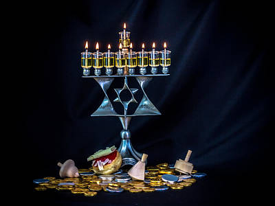 Photograph - Hanukkiyah by Mark Perelmuter