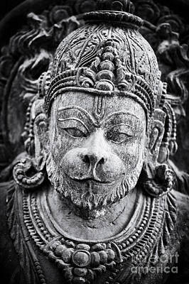 Hinduism Photograph - Hanuman Monochrome by Tim Gainey