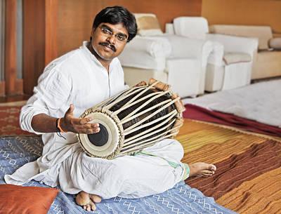 Hanumant Ghadge Tabla Accompaniment At Private Party Art Print