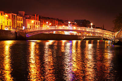 Hapenny Photograph - Ha'penny Bridge-dublin by John Galbo