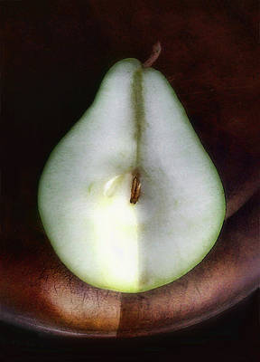 Photograph - Half Of One Pear by Louise Kumpf