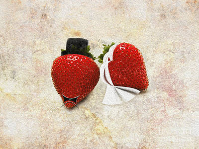 Mixed Media - Happily Berry After Wedding Day by Andee Design