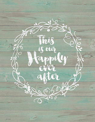 Family Love Painting - Happily Ever After by Jo Moulton