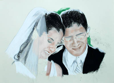 Drawing - Happiness Forever - Step 3 by Miguel Rodriguez