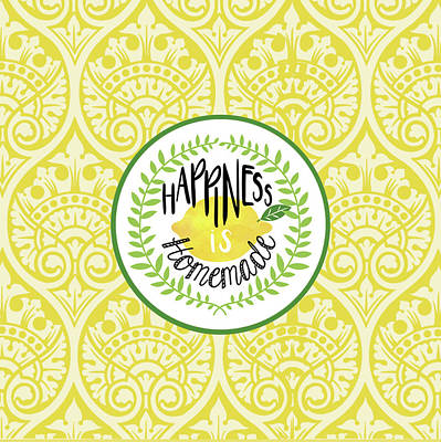 Lemon Painting - Happiness Homemade by Tammy Apple