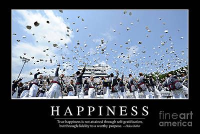 Photograph - Happiness Inspirational Quote by Stocktrek Images