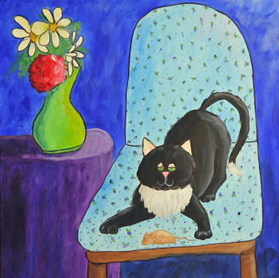 Painting - Happiness Is A Catnip Mouse by Kenny Francis