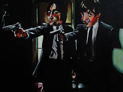 Vincent Vega Painting - Happiness Is A Warm Gun by Bluart Stack