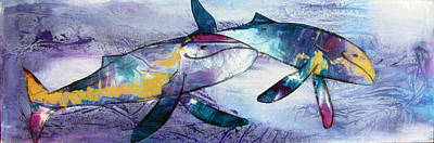 Humpback Whale Mixed Media - Happiness Is.... by Chris Morningforest