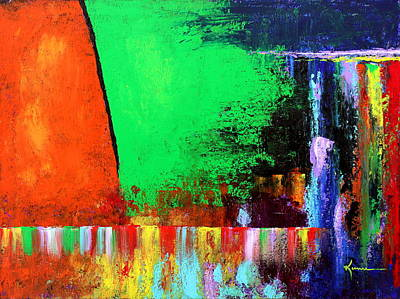 Art Print featuring the painting Happiness by Kume Bryant