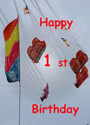 Photograph - Happy 1st Birthday by Judy Hall-Folde