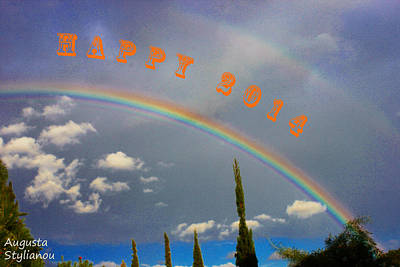 Colourfull Photograph - Happy 2014 by Augusta Stylianou