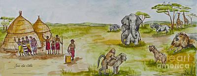 Happy Africa Art Print