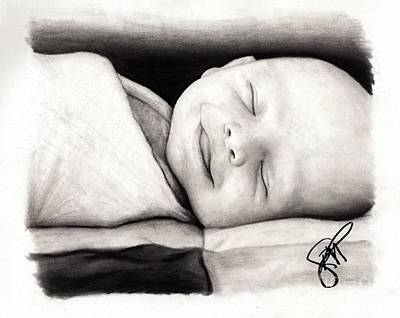 Drawing - Happy Baby by Rosalinda Markle