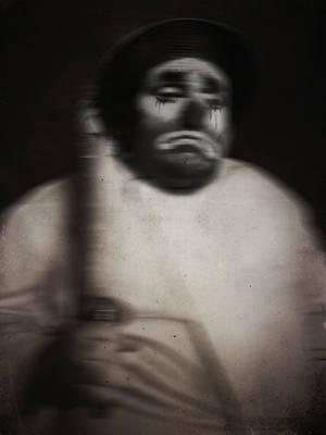 Sad Clown Photograph - Happy Baker by Empty Wall