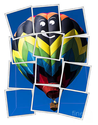 Hot Air Balloon Photograph - Happy Balloon Ride by Edward Fielding