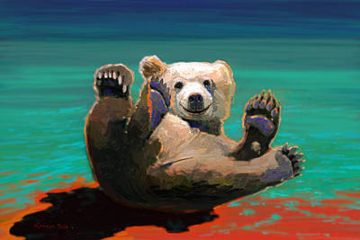 Painting - Happy Bear by Kanayo Ede