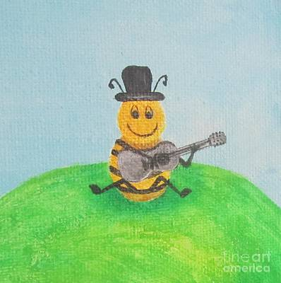 Painting - Happy Bee by Jeepee Aero