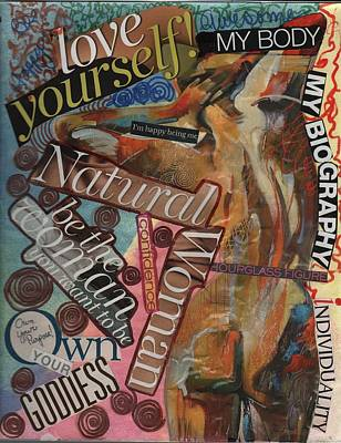 Mixed Media - Happy Being Me by Phyllis Anne Taylor Pannet Art Studio