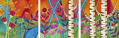 Painting - Happy Birches by Carla Bank