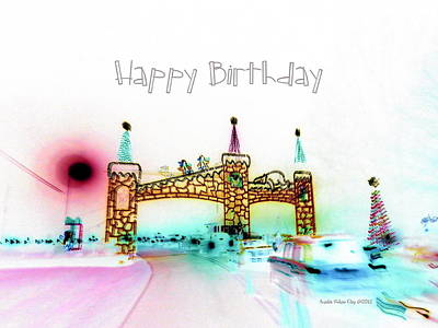Digital Art - Happy Birthday - Ahc by Angelia Hodges Clay