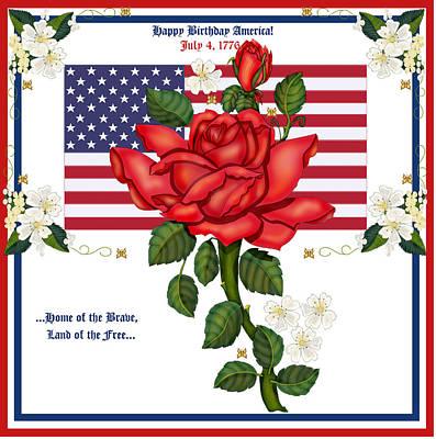 Happy Birthday America Print by Anne Norskog