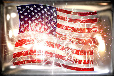 4th July Digital Art - Happy Birthday America by Li   van Saathoff