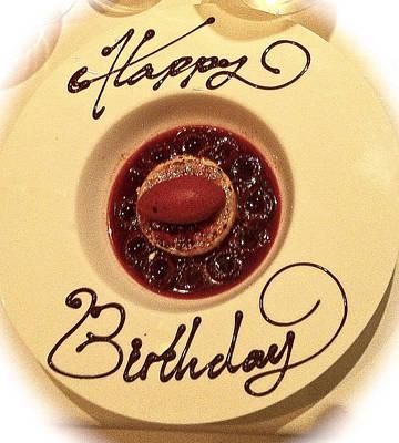Happy Birthday Dessert Art Print by Venetia Featherstone-Witty